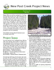 Newsletter 1, May 2008