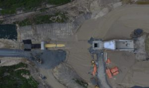 An aerial photo of the intake.
