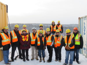 TTN Chief and Council and Chief Hardisty of Moose Cree First Nation and CRP Board and Project Team at the site visit in January 2016.